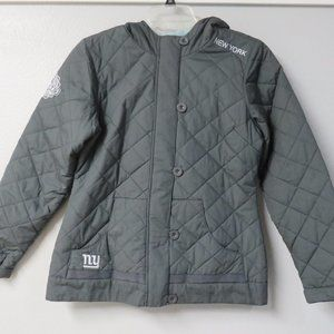 NFL PRO LINE NEW YORK GIANTS JACKET GRAY QUILTED M